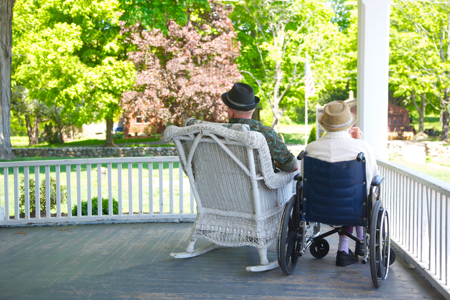 Small file Old couple on porch